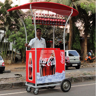 cocacola trolley fabricated by mediatech international