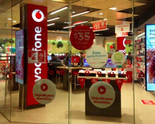 vodafone visual merchandising by mipl