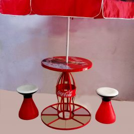 College Table with Umbrella